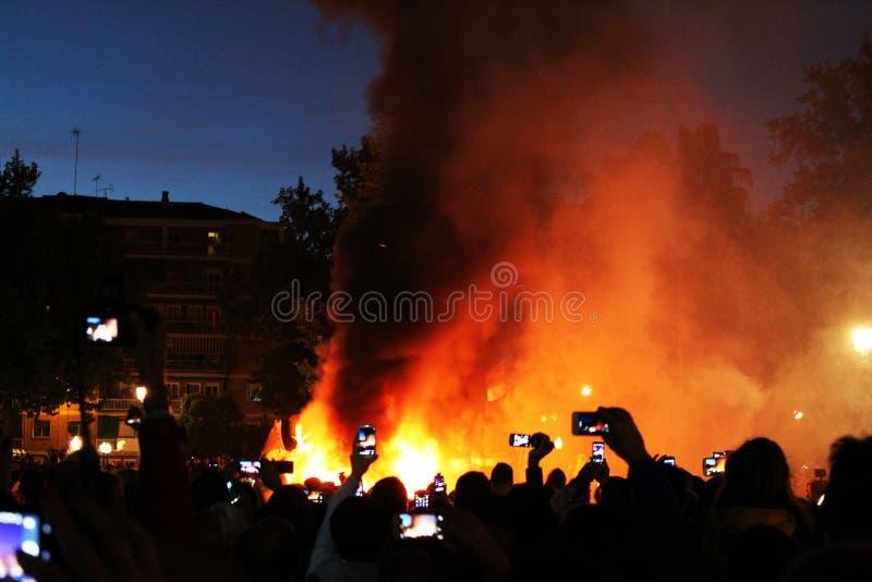 Las Fallas Εορτασμός φωτιών στοκ φωτογραφίες με δικαίωμα ελεύθερης χρήσης