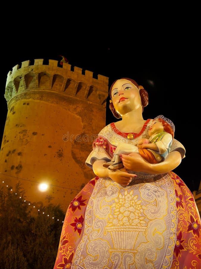 Las Fallas, Valencia, España fotos de archivo
