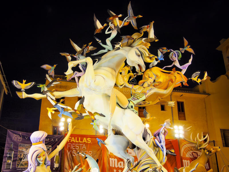 Download Las Fallas, Valencia, Spain Editorial Stock Photo - Image: 29861418