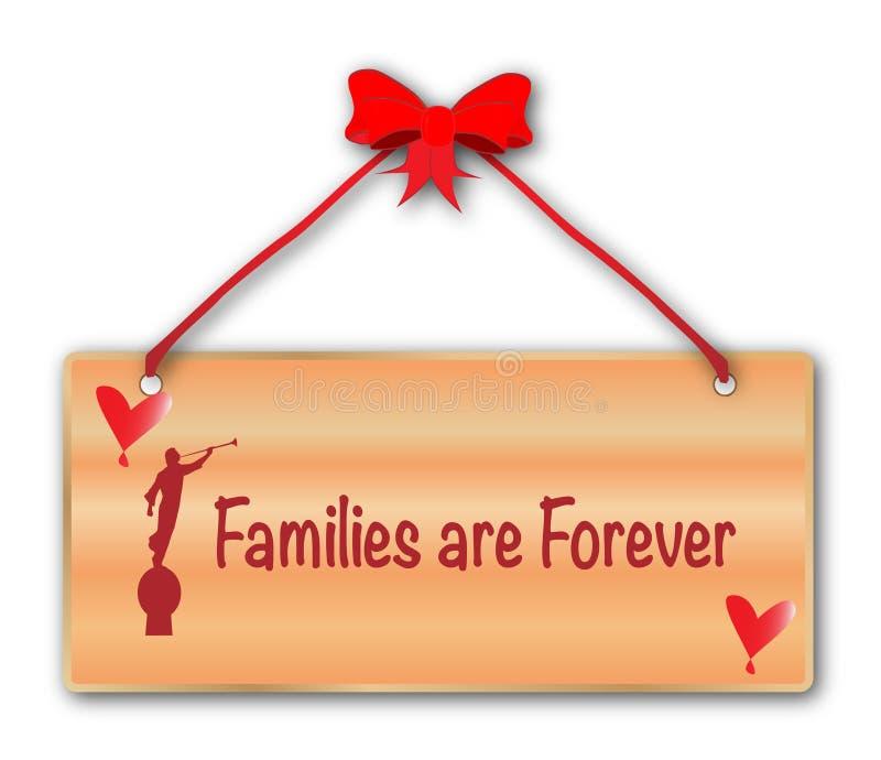 Las familias son para siempre muestra en el fondo blanco stock de ilustración
