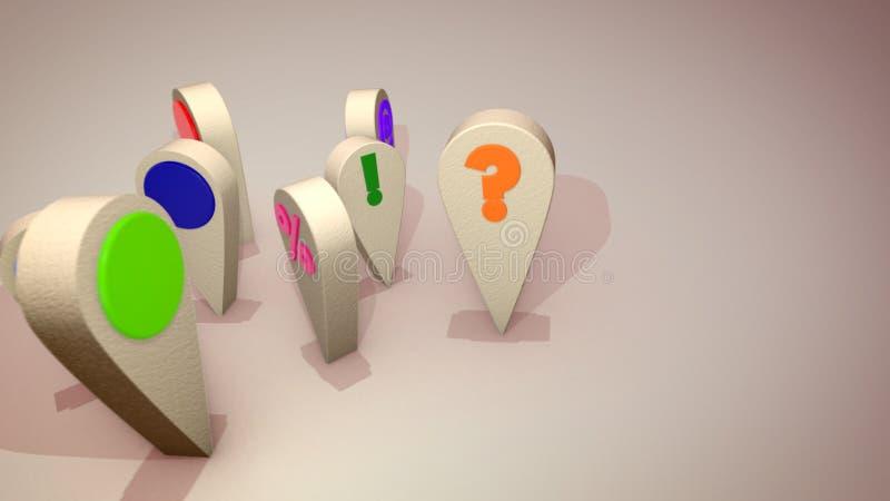 Las figuras coloridas alegres del botón de la PC bailan libre illustration
