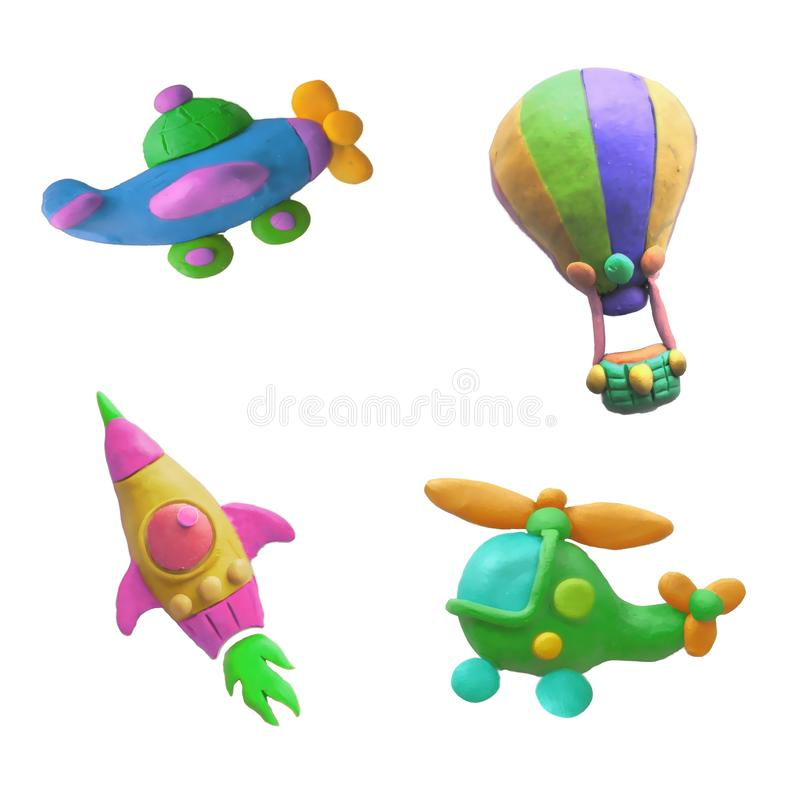 Las figuras geométricas de los niños brillantes Por diversión y buen humor ilustración del vector