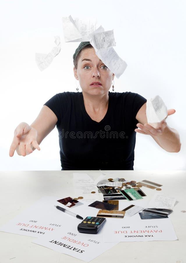 Las finanzas frustraron foto de archivo