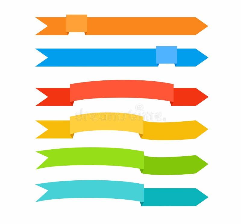 Las flechas coloreadas bajo la forma de cintas libre illustration