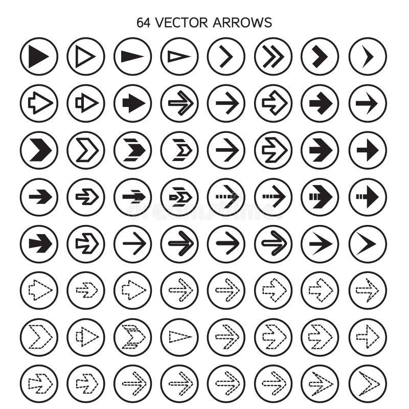 las flechas fijadas, deshacen y los botones anteriores stock de ilustración