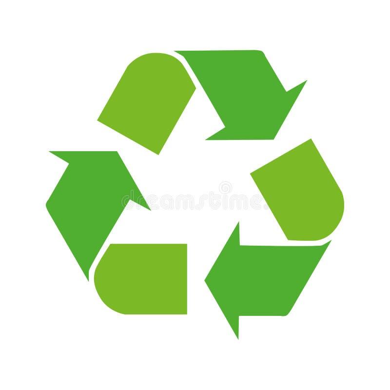 Las flechas verdes reciclan el ejemplo del vector del s?mbolo del eco aislado en el fondo blanco Muestra reciclada Icono reciclad ilustración del vector