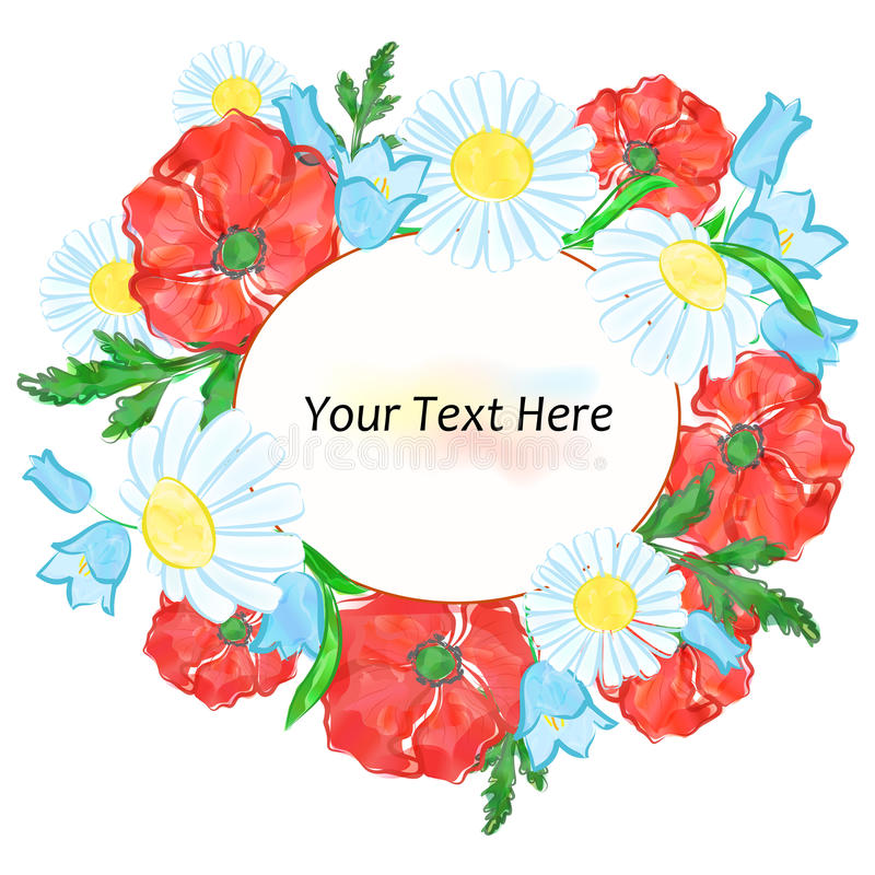 Las flores de la acuarela stock de ilustración