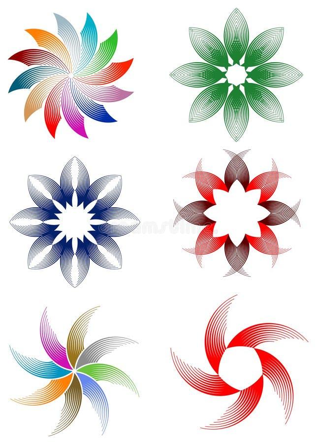 Las flores diseñan el sistema stock de ilustración