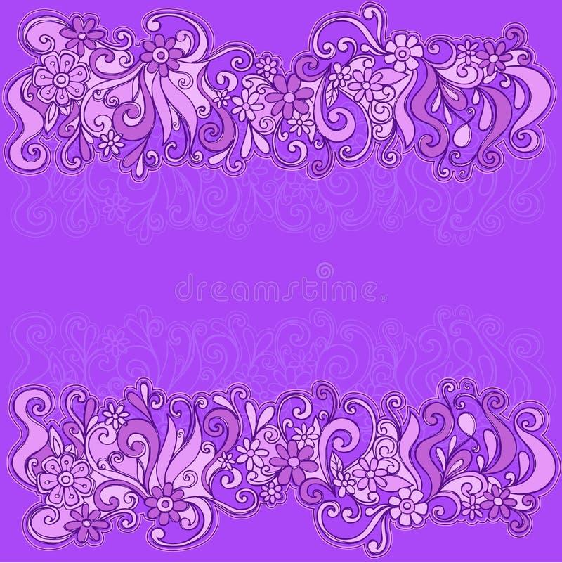 Las flores incompletas confinan la ilustración del vector ilustración del vector