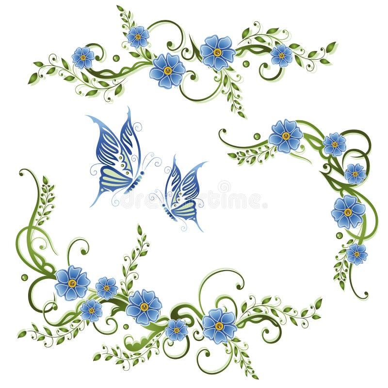 Las flores, me olvidan no ilustración del vector