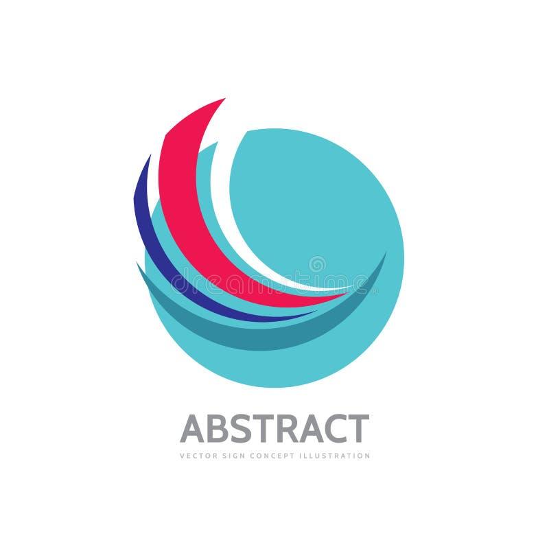 Las formas abstractas en círculo - vector el ejemplo del concepto de la plantilla del logotipo Muestra moderna de la tecnología S ilustración del vector