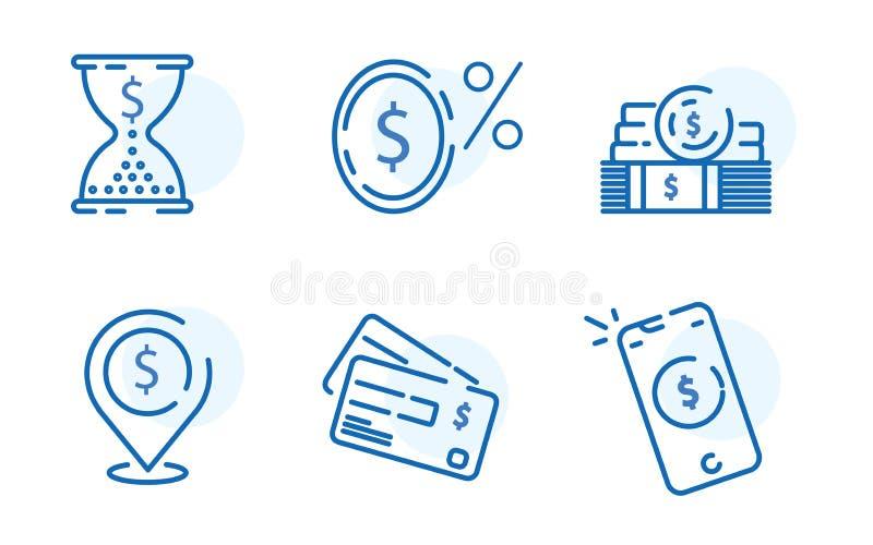 Las formas de pago, los artículos financieros fijaron, el FE cero de la comisión del por ciento stock de ilustración