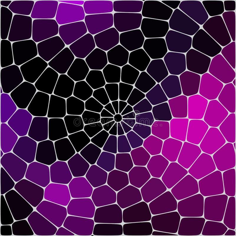 Las formas deformadas geométricas del hexágono del vitral del extracto adornan el ejemplo del vector libre illustration