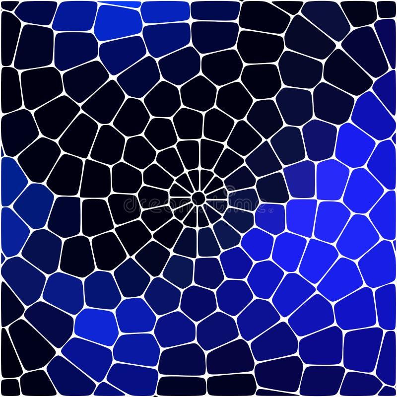 Las formas deformadas geométricas del hexágono del vitral del extracto adornan el ejemplo del vector stock de ilustración