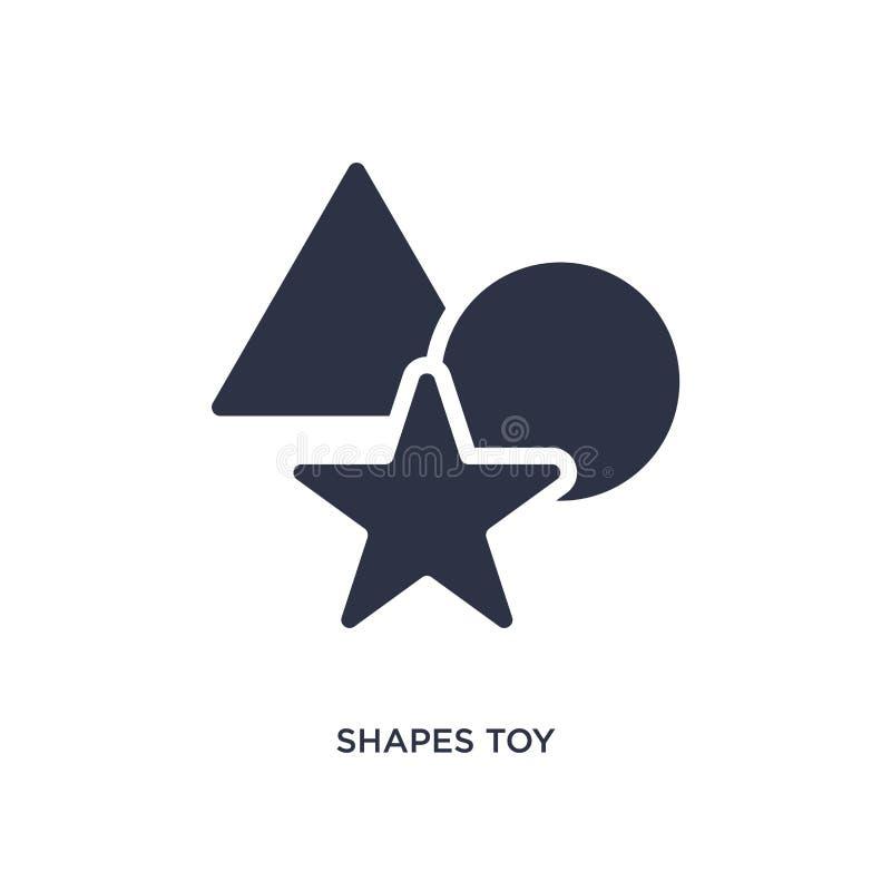 las formas juegan el icono en el fondo blanco Ejemplo simple del elemento del concepto de los juguetes libre illustration