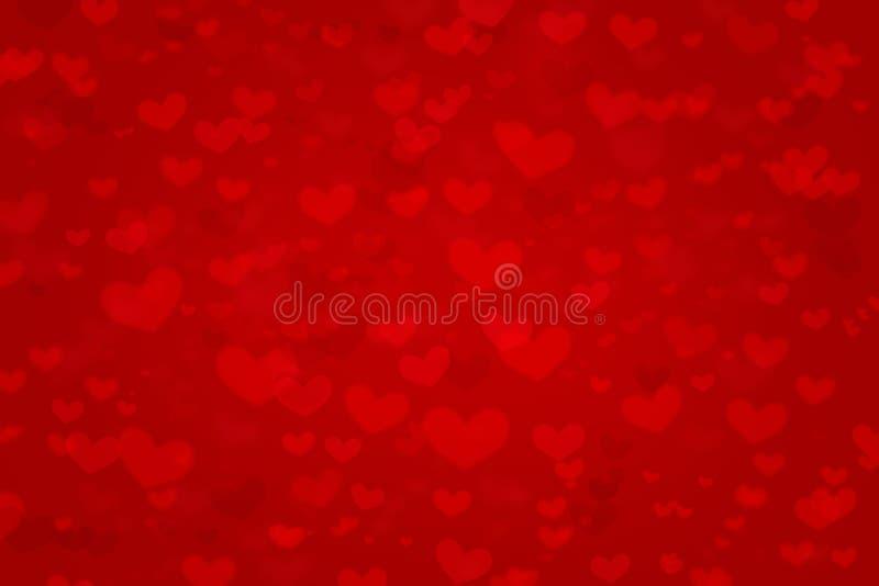 Las formas rojas del corazón del fondo del amor texturizan el modelo para la tarjeta de regalos del diseño del extracto del conce foto de archivo