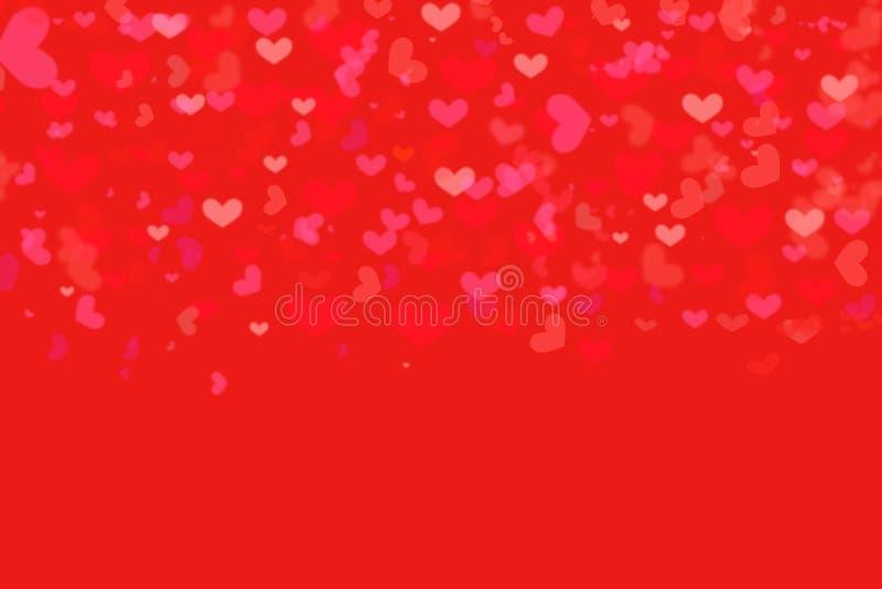Las formas rojas del corazón del fondo del amor texturizan el modelo para la tarjeta de regalos del diseño del extracto del conce fotos de archivo libres de regalías