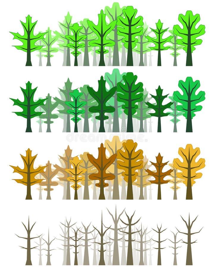 las four leafa oak pór roku royalty ilustracja