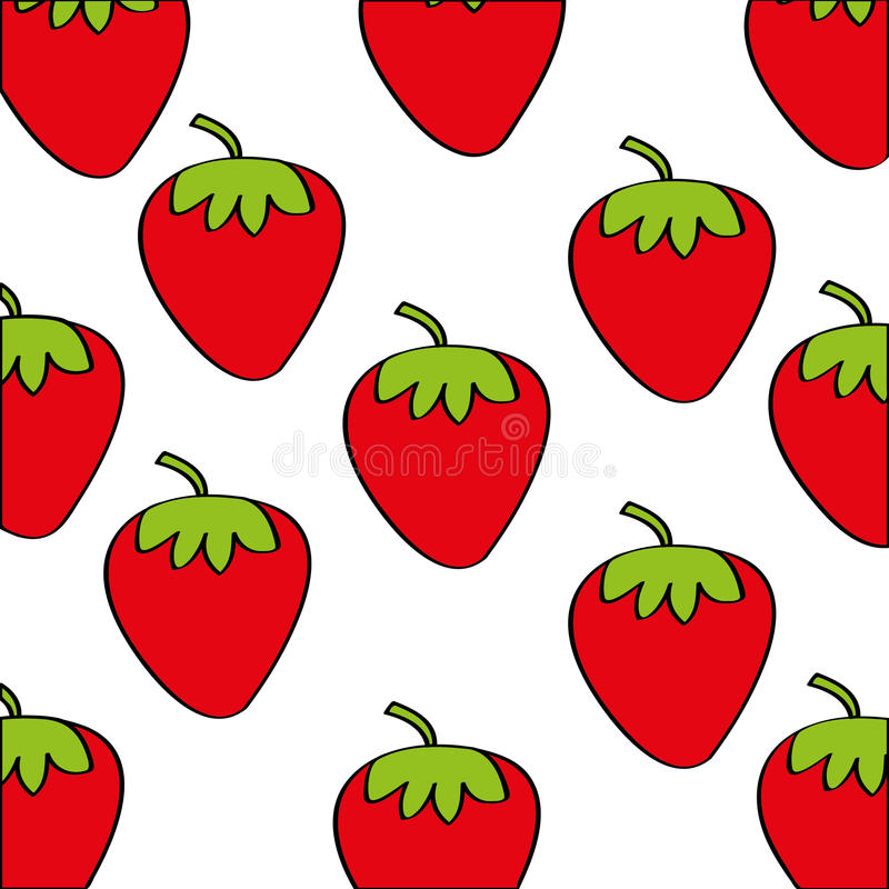 Las fresas modelan el icono del dibujo de la fruta fresca libre illustration