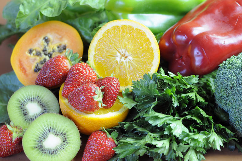 Las fuentes de vitamina C para la aptitud sana adietan - el primer foto de archivo libre de regalías
