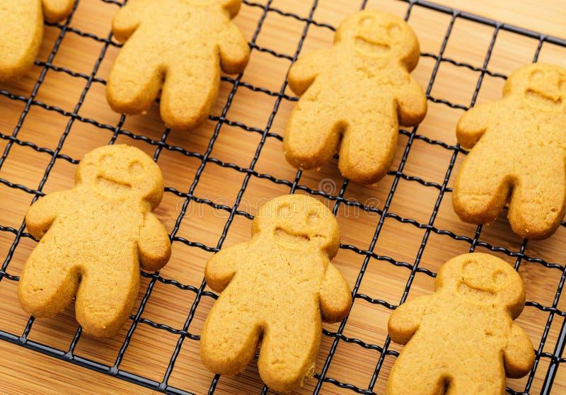 Las galletas del pan de jengibre se cierran para arriba foto de archivo libre de regalías