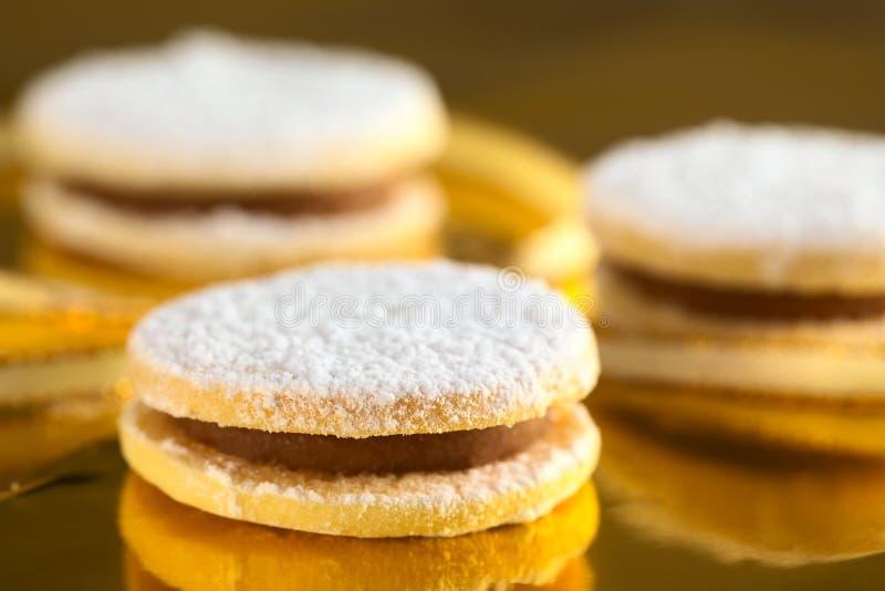 Las galletas peruanas llamaron Alfajores imagen de archivo