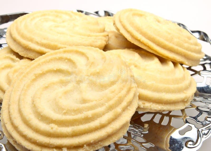 Las galletas vienesas del remolino se cierran para arriba imagen de archivo libre de regalías