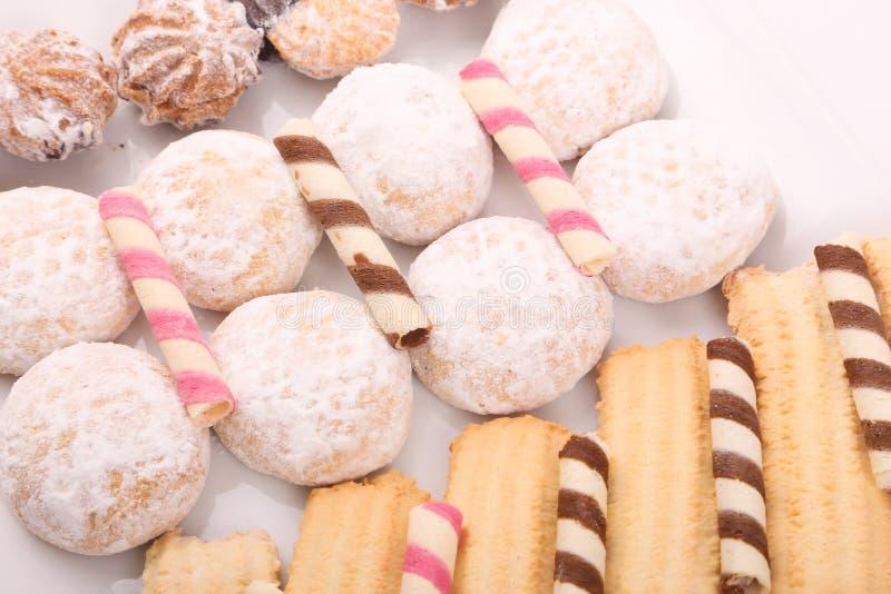 Las galletas y las tortas se cierran para arriba fotografía de archivo libre de regalías
