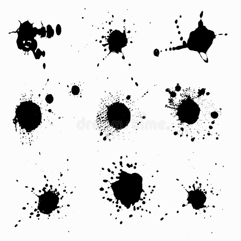 Las gotas de la tinta aislaron el ejemplo para su diseño libre illustration