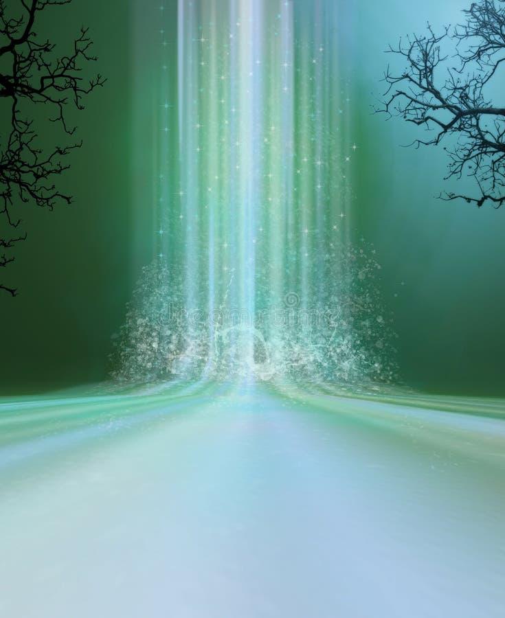 las grać główna rolę siklawę royalty ilustracja
