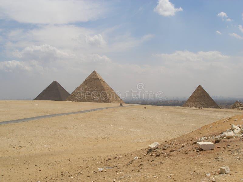 Las grandes pirámides foto de archivo libre de regalías
