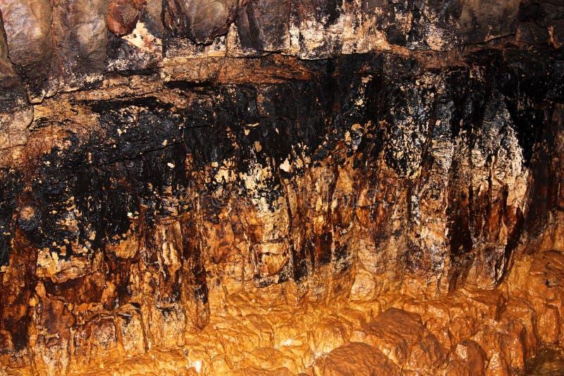 Las grutas de Stiffe, Valle Dell'Aterno, Italia fotografía de archivo libre de regalías