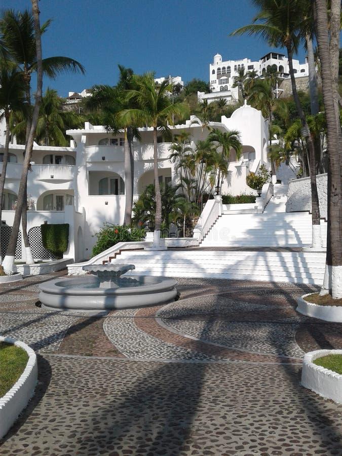 Las Hadas semesterort i Manzanillo, Colinas, Mexico royaltyfria bilder