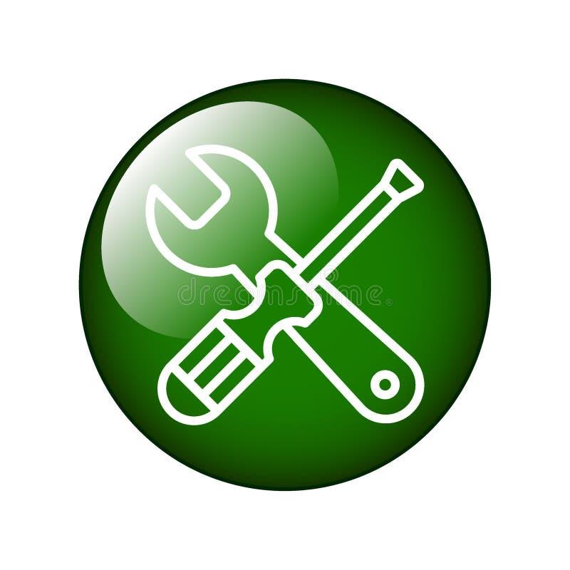 Las herramientas mantienen el icono de los ajustes libre illustration
