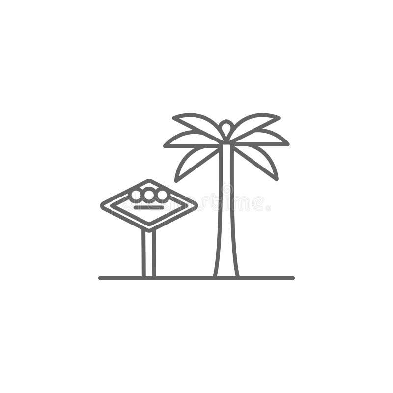 las het pictogram van het de palmoverzicht van de vegasv.s. Elementen van de illustratiepictogram van de onafhankelijkheidsdag De vector illustratie