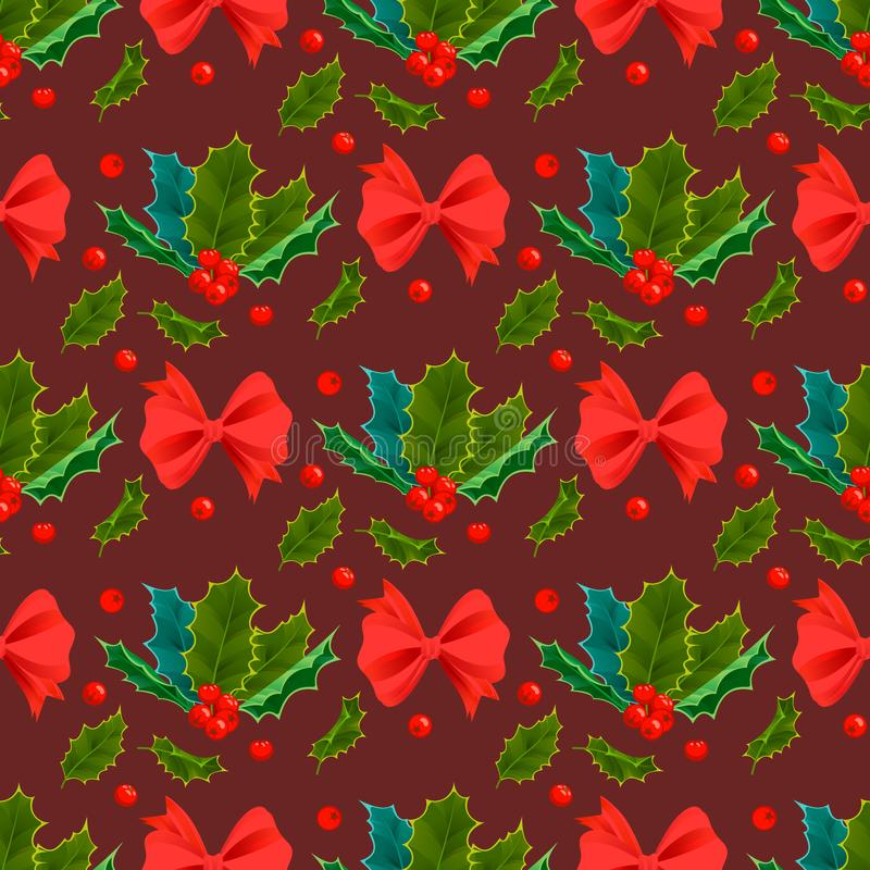 Las Hojas Decorativas Acebo Y Ramas De La Navidad Con Invierno ...