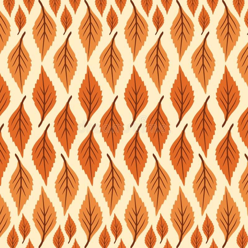 Las hojas del extracto del vector de la impresión modelan grande y pequeño libre illustration