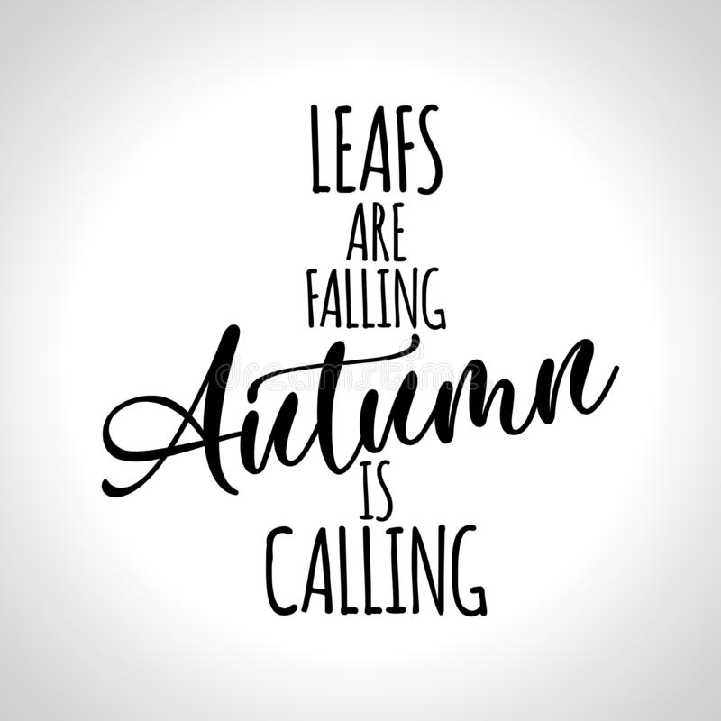 Las hojas están cayendo, otoño están llamando ilustración del vector