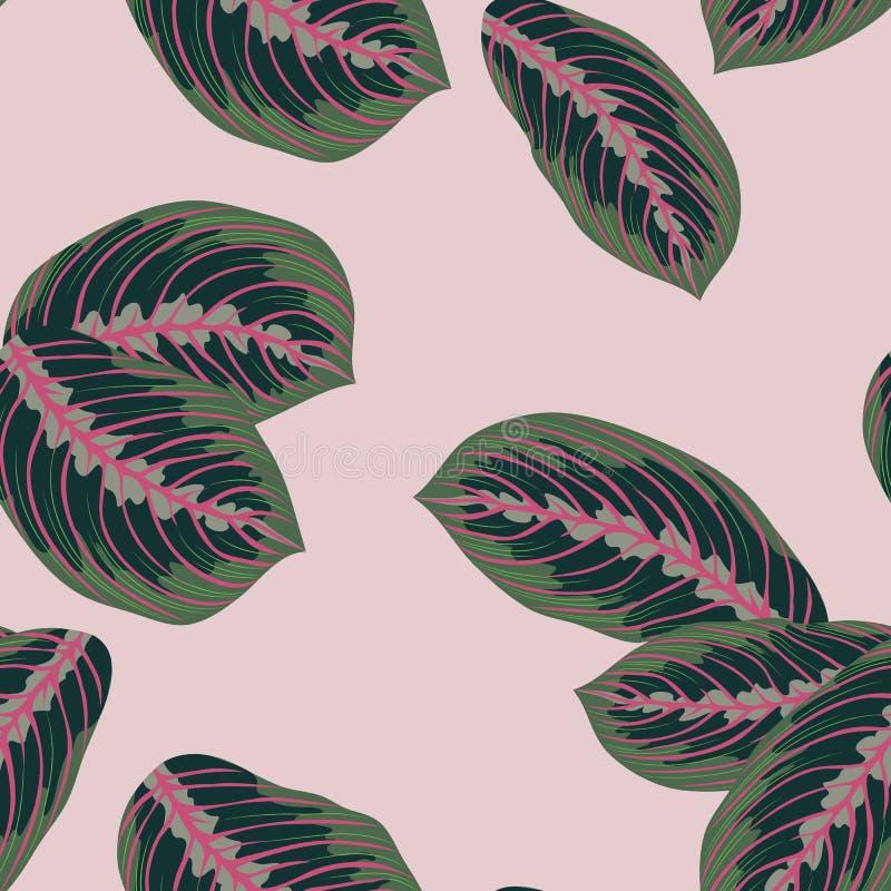 Las hojas tropicales, selva salen del fondo inconsútil del estampado de flores del vector ilustración del vector