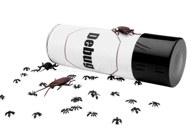 Las hormigas y las cucarachas acercan al repelente de insectos foto de archivo libre de regalías