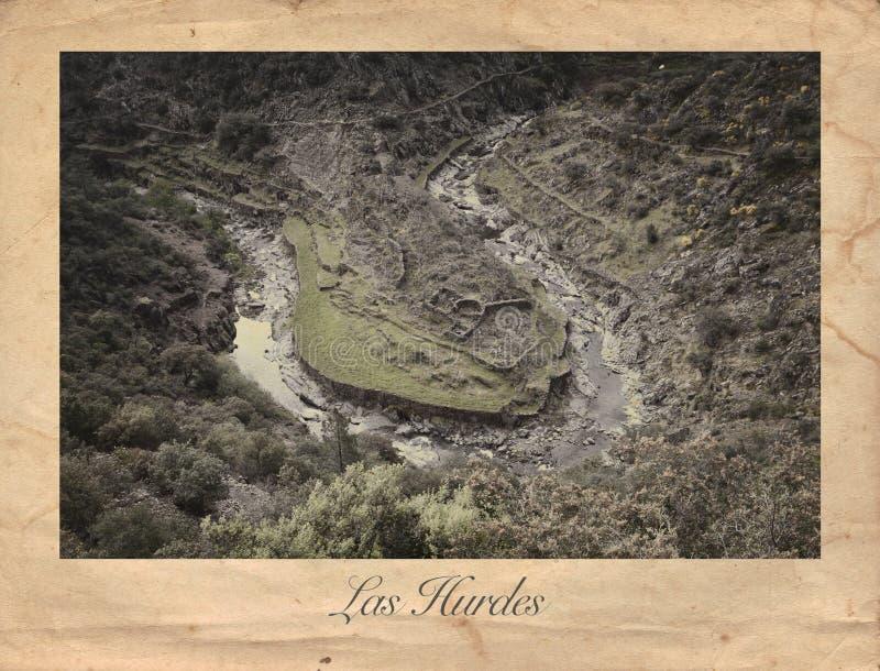Las Hurdes grabado, España fotografía de archivo libre de regalías
