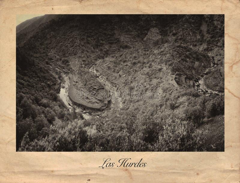 Las Hurdes grabado, España imagen de archivo libre de regalías