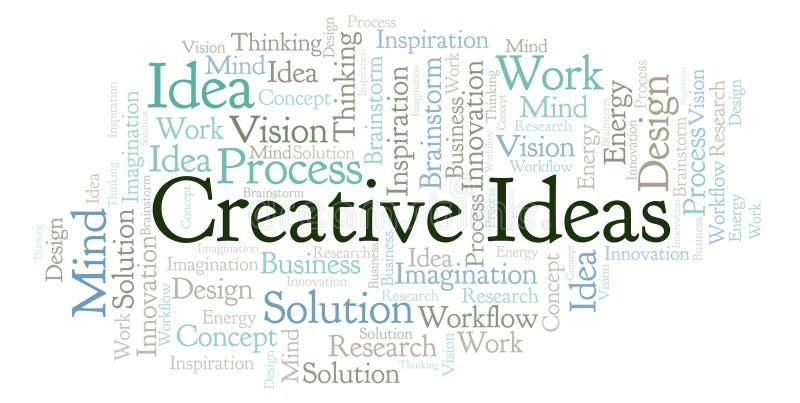 Las ideas creativas redactan la nube, hecha con el texto solamente libre illustration