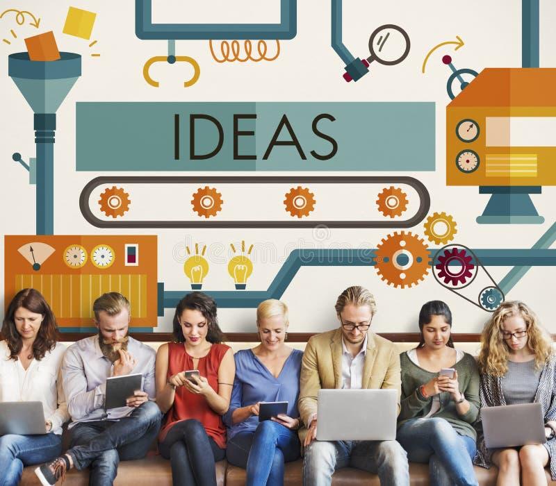 Las ideas de la innovación se imaginan concepto de sistema de proceso imagenes de archivo