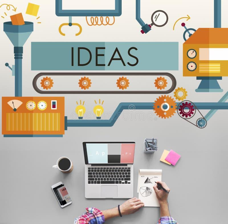 Las ideas de la innovación se imaginan concepto de sistema de proceso foto de archivo