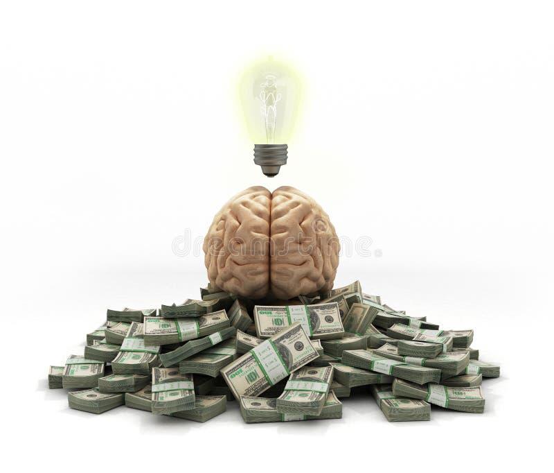 Las ideas del concepto que generan la buena recompensa del mohg de la renta mienten en una pila libre illustration