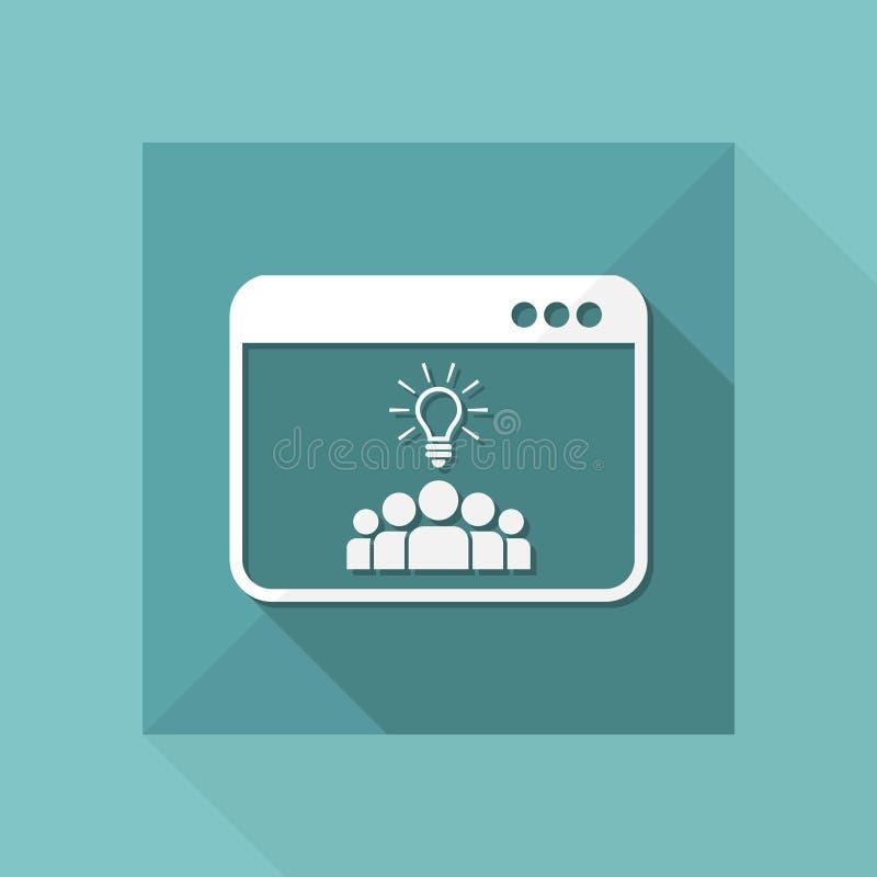Las ideas del trabajo en equipo - Vector el icono para el sitio web o el uso del ordenador ilustración del vector