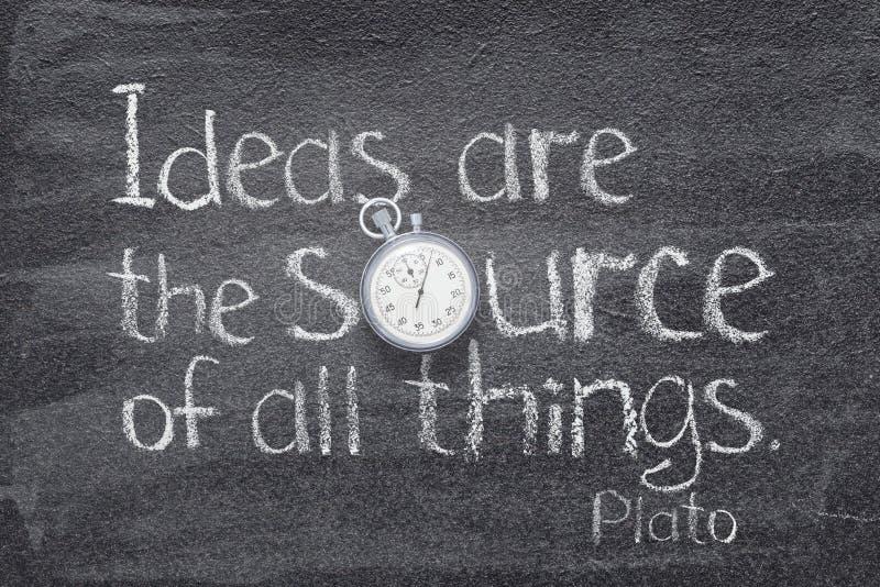 Las ideas son la fuente fotos de archivo