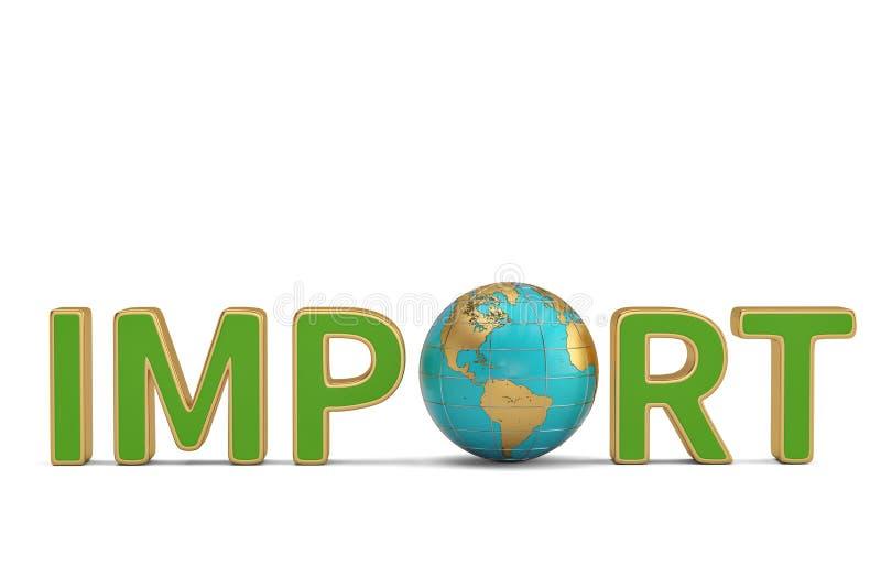 Las importaciones las sociedades globales redactan y del comercio del negocio del globo enfermedad 3d libre illustration