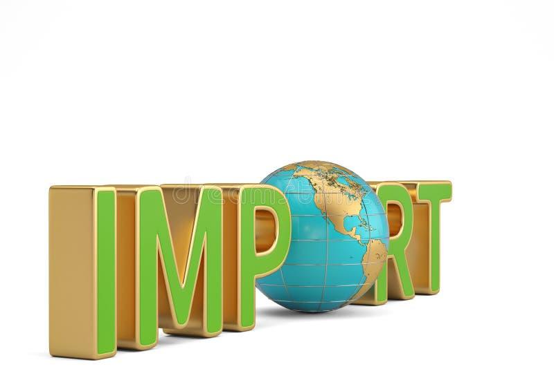 Las importaciones las sociedades globales redactan y del comercio del negocio del globo enfermedad 3d ilustración del vector